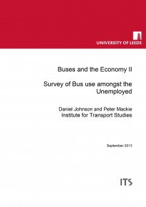 Buses and the Economy II: Survey of the Bus amongst the Unemployed