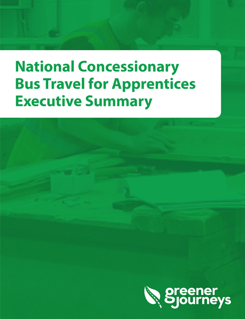 National concessionary bus travel for apprentices