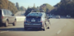 Driverless car - photograph by Maria Ly