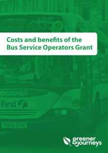 Costs and benefits of the Bus Service Operators Grant