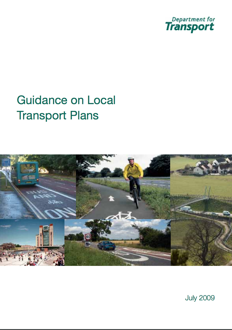 Guidance on Local Transport Plans