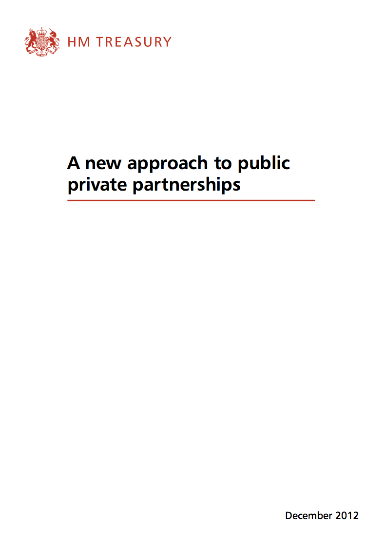 A new approach to public private partnerships