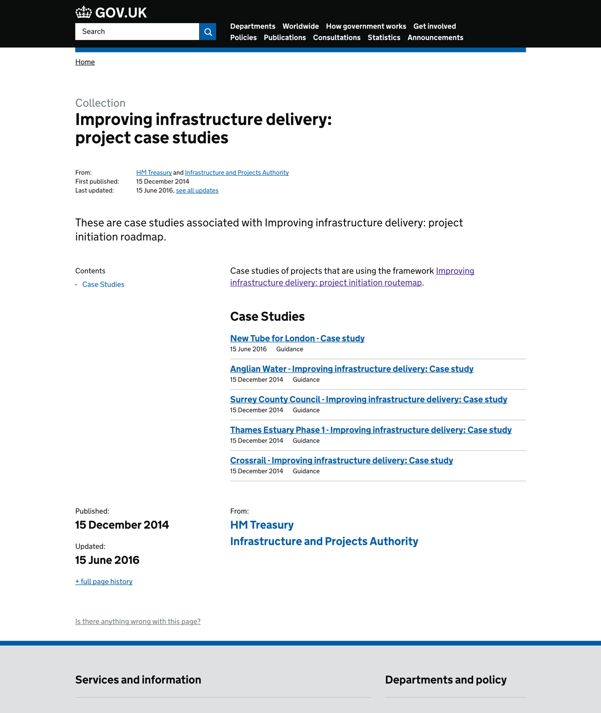 Improving infrastructure delivery: project case studies