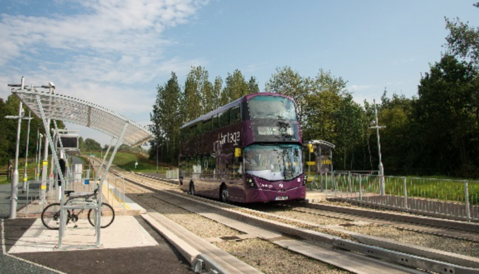 The Leigh to Ellenbrook guided busway
