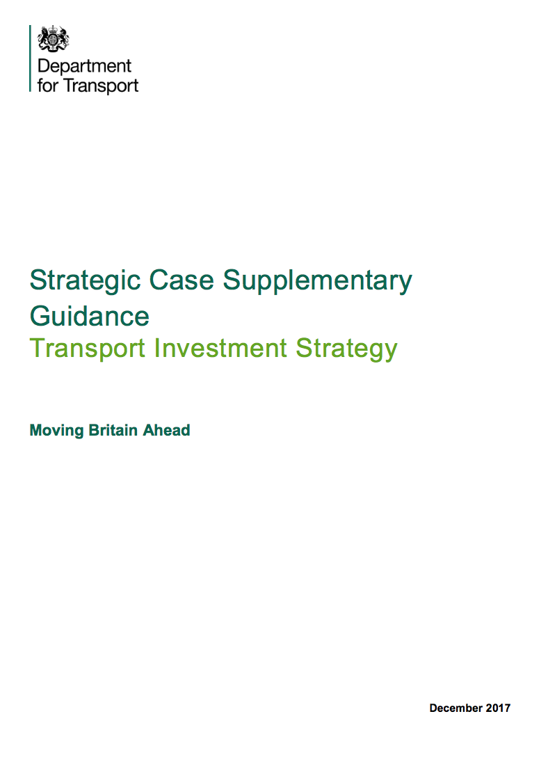 Strategic Case Supplementary guidance: Transport Investment Strategy