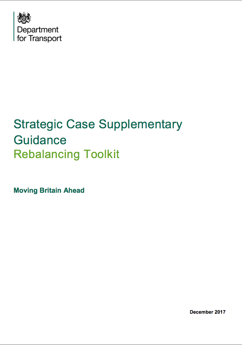 Strategic Case Supplementary guidance: Rebalancing Toolkit